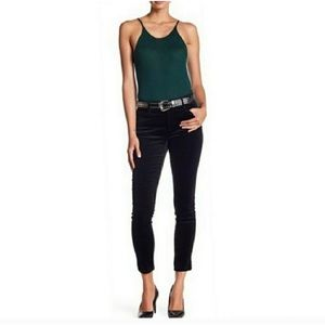 NWT Joe's Dress Up Black Velvet Skinny Jeans